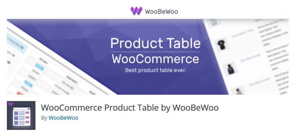 WooCommerce Product Table by WooBeWoo